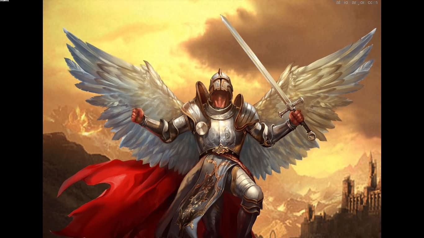 Warrior Angel Tattoo Wallpaper