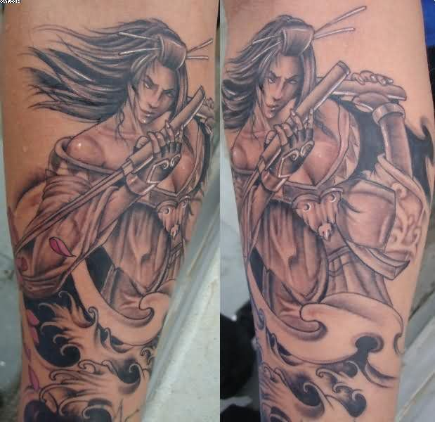 Warrior Girl Tattoos