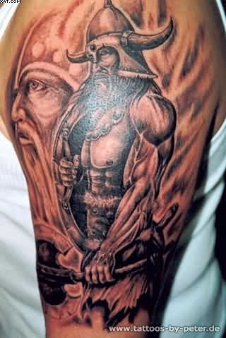 Warrior Half Sleeve Tattoos For Men