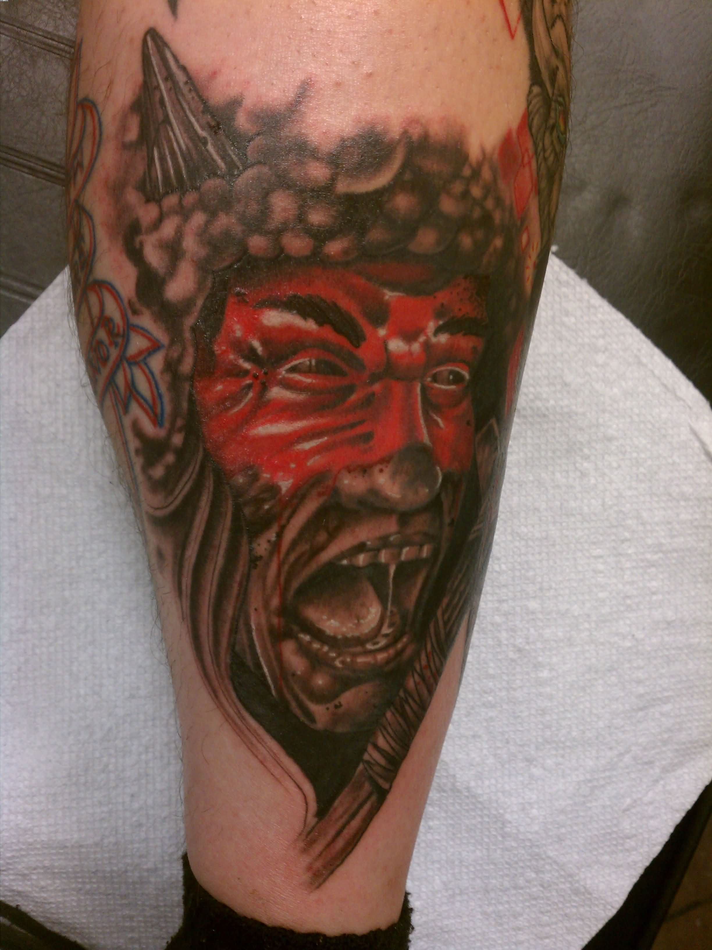 Warrior Scream Tattoo