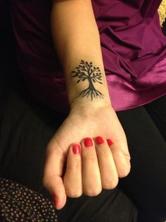 A Very Small Tree Tattoo For Wrist