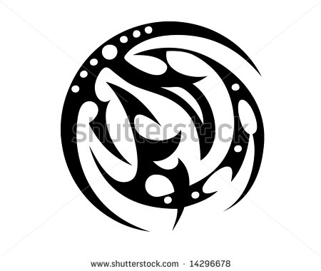Abstract Circle Tribal Tattoo Model