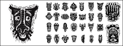African Tribal Masks Tattoo Designs