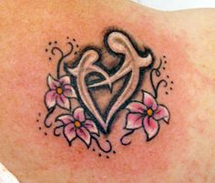 Amazing Flowers And Mother Daughter Knot Tattos