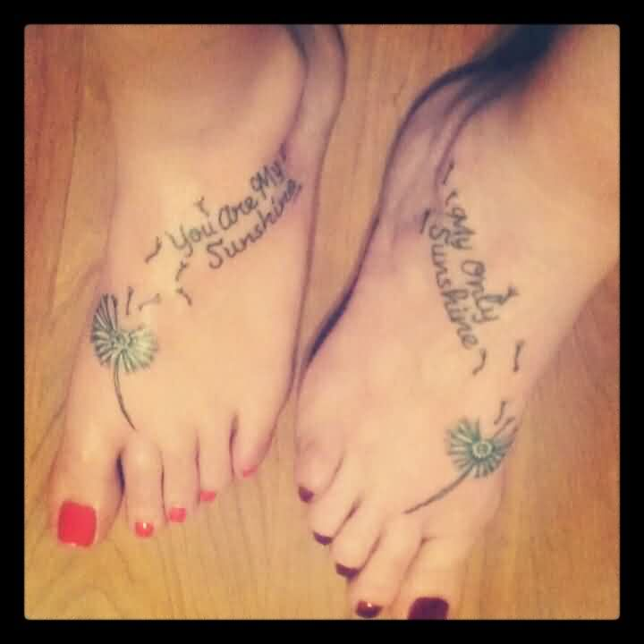Amazing Mother Daughter Quotes Tattoos On Feet