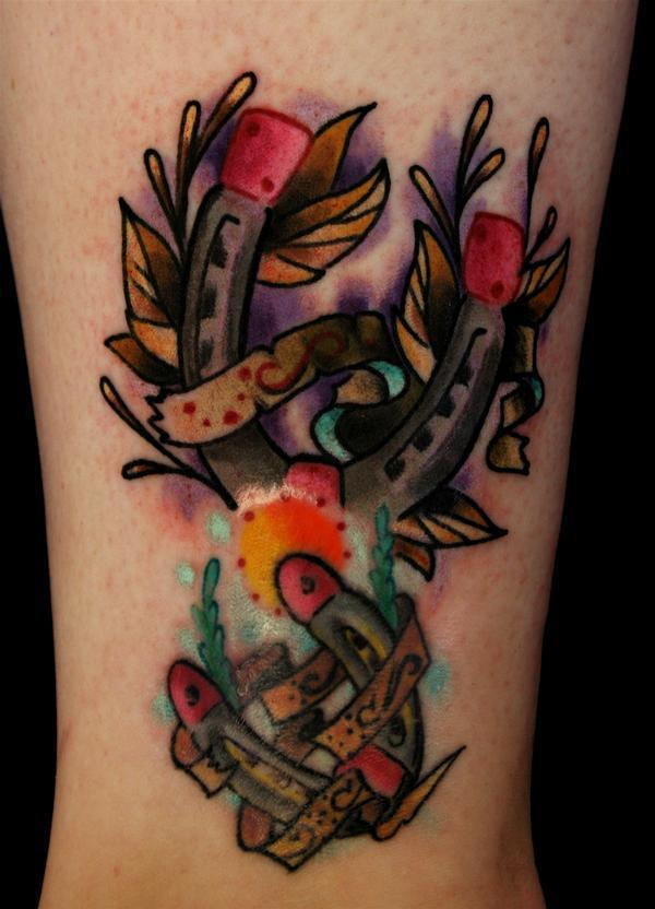 Amazing Traditional Horseshoe Tattoos