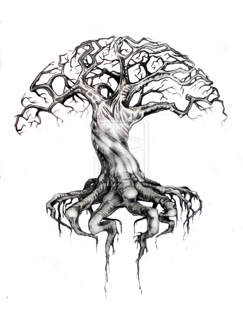 Amazing Tree Of Life Tattoo Design