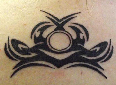 Amazing Tribal Libra Symbol Tattoo