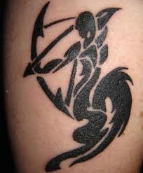 Amazing Tribal Zodiac Sagittarius Tattoo