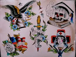 American Traditional Tattoos Sheet