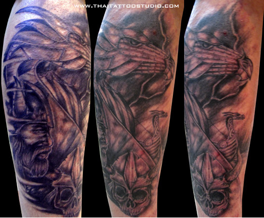 Ancient Viking Sleeve Tattoos For Men