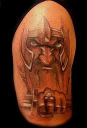Angry Old Viking Tattoo