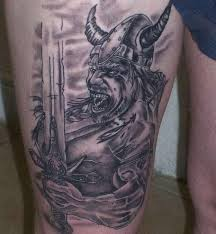 Angry Viking Warrior Tattoo