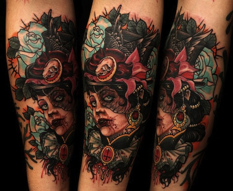Awesome Traditional Sleeve Tattoos