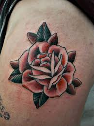 Beautiful Traditional Rose Tattoo