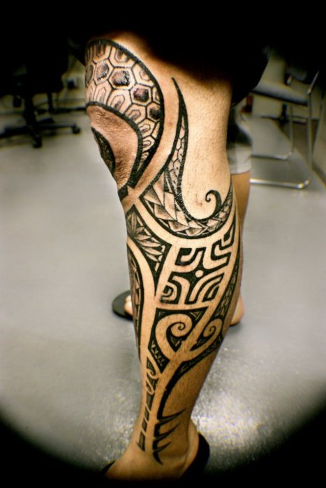 Best Tribal Knee Tattoo For Men
