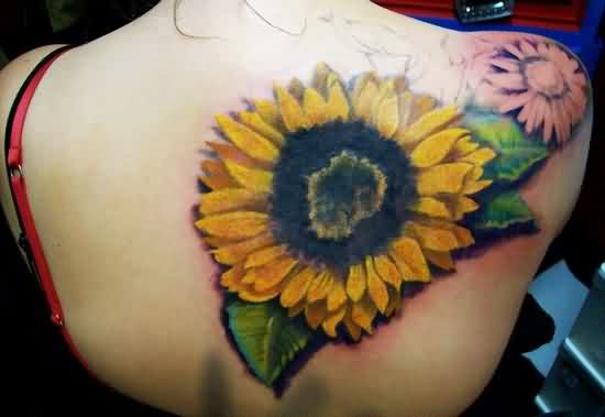Big Sunflower Tattoo Trend For Girls