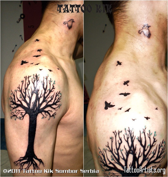 Birds From Tree Tattoos