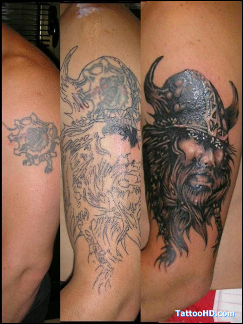 Brandon Bond Viking Ship Tattoos