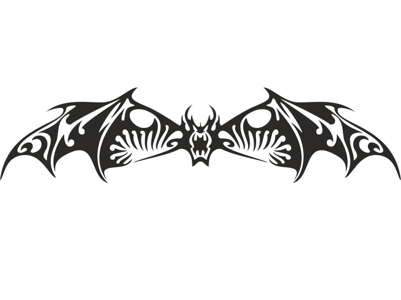 Brilliant Tribal Bat Tattoo Design