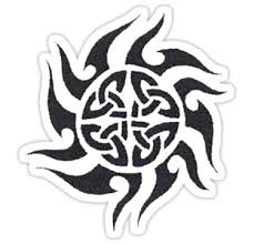 Celtic Sun Tattoo Sticker