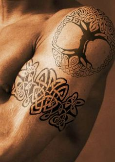 Celtic Tree Of Life And Armband Tattoos