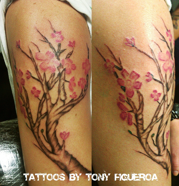Cherry Blossoms Tree Tattoos