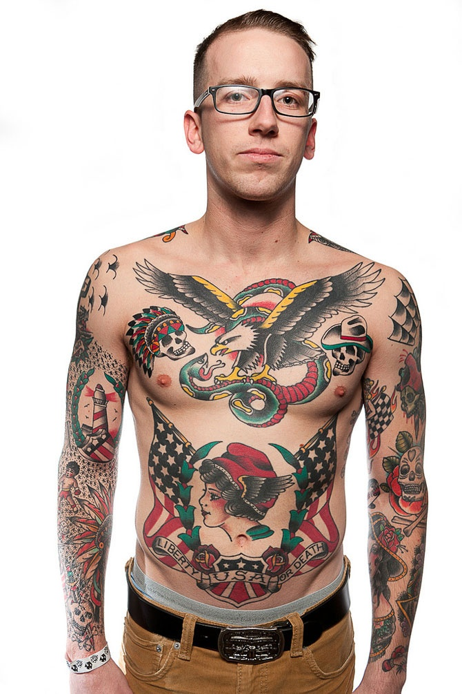 Complete Body Traditional Tattoos For Guys