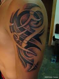 Cool 3D Tribal Tattoo On Arm
