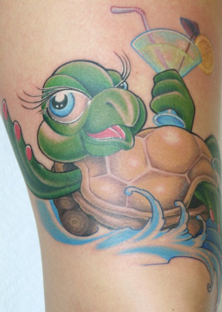 Enjoying Turtle Tattoo