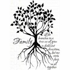 Family Tree Tattoo Stencil