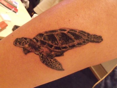 Fantastic Sea Turtle Tattoo