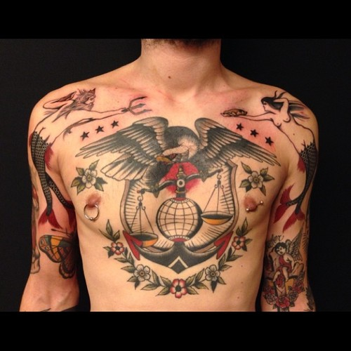 Fantastic Traditional Tattoos On Body For Men