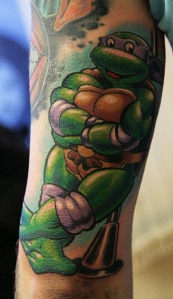 Fantasy Ninja Turtles Tattoos On Arm