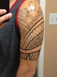 Filipino Tribal Tattoo On Half Sleeve