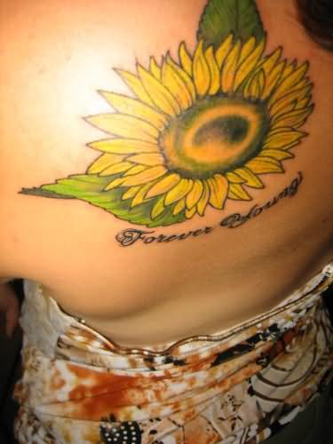 Forever Young Sunflower Tattoo