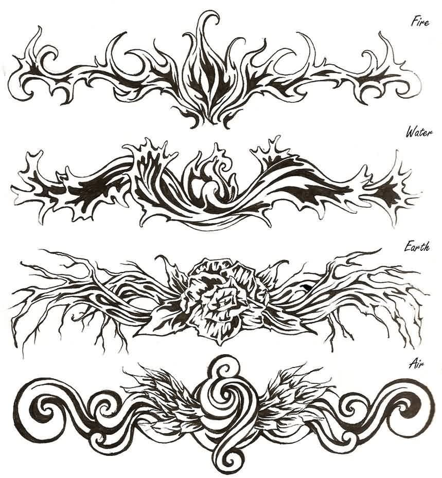 Tribal-Tattoos four-tribal-tattoo-designs