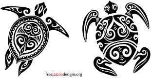 Free Maori Turtle Tattoo Designs