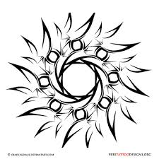 Free Sun Rays Tattoo Design