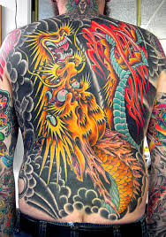 Full Back Traditional Tattoos For Men
