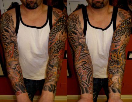 Full Sleeve Tribal Tattoos For Guys