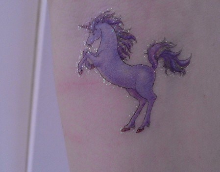 Glitter Unicorn Tattoo