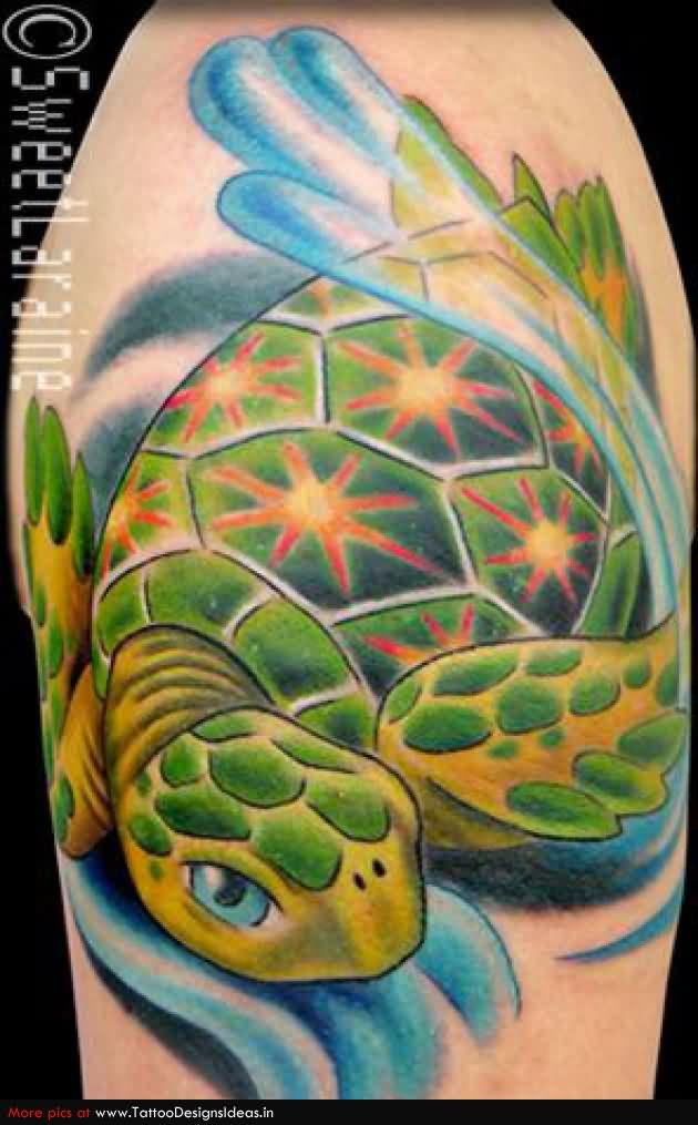 Green Sea Turtle Tattoo