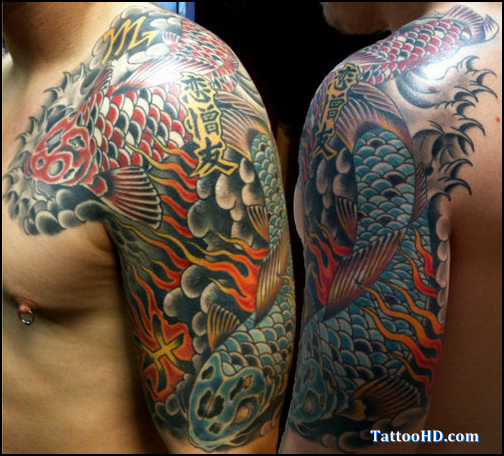 Half Sleeve Japanese Traditional Tattoos For Men