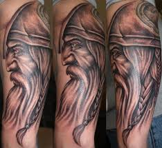 Half Sleeve Old Viking Tattoos For Men