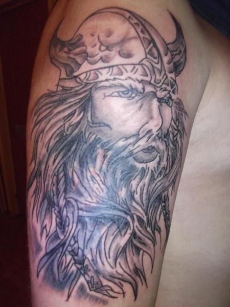 Half Sleeve Viking Tattoo For Fans