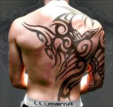 Latest Tribal Tattoo On Back For Musculary Guys
