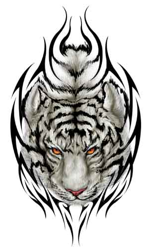 Latest Tribal Tiger Tattoo Design