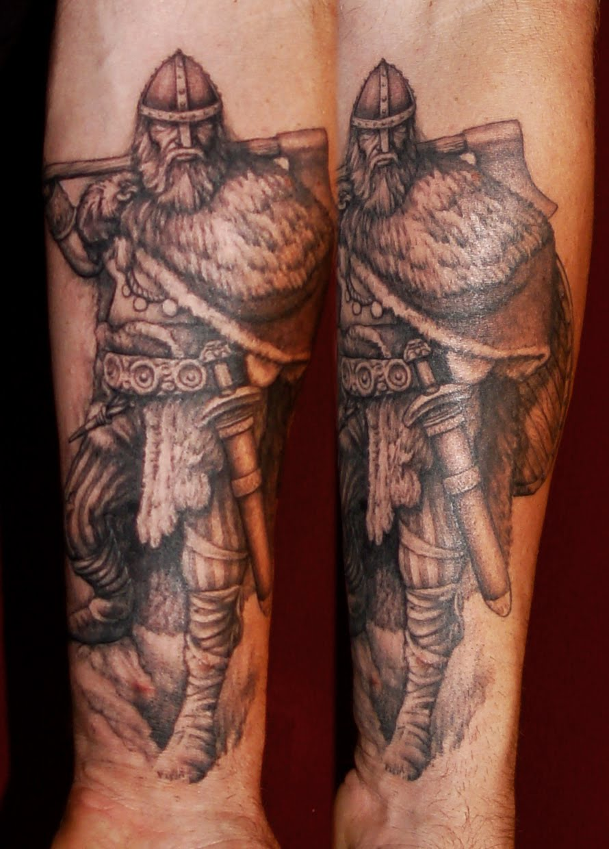 Lower Arm Warrior Viking Tattoos