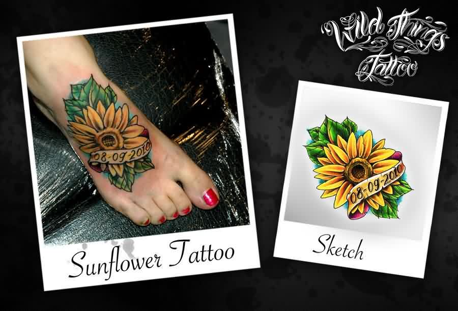 Memorable Sunflower Tattoos Sketch